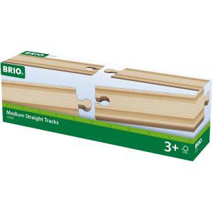 Brio - 33335 - Rails moyens droits - 144 mm - Age 3 ans + (1255)