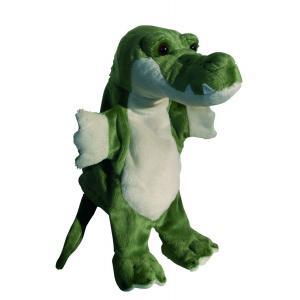 Au Sycomore - PEL60316 - Marionnette peluche crocodile 23 cm (132077)