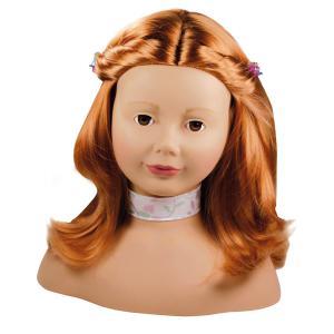 Gotz - 1192054 - Tête à coiffer et à maquiller cheveux roux, yeux marrons - 58 pièces (139498)