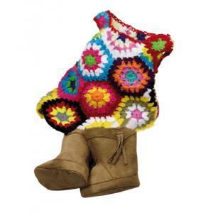 Gotz - 3401888 - Robe tricotee avec des bottes en daim beige, 45-50 cm (139550)