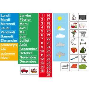 Jeujura - 8971 - Magnets calendrier - coffret de 80 caractères (159606)