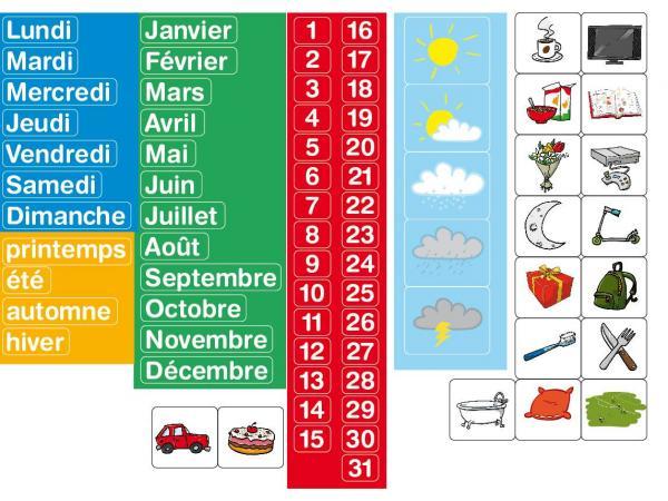 Magnets calendrier - coffret de 80 caractères