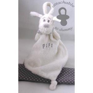 Dimpel - 811330 - Fifi doudou chien attache-tétine - blanc (172709)