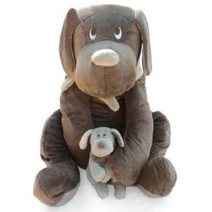 Dimpel - 810238 - Peluche chien Fifi 100 cm brun gris (172797)