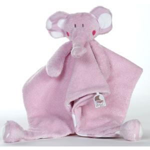 Dimpel - 821054 - Doudou éléphant Bolli 15 cm - rose (173219)
