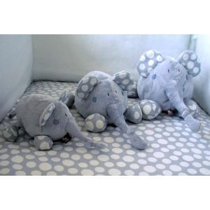 Dimpel - 821509 - Doudou éléphant Bolli 15 cm - bleu (173229)
