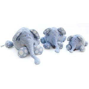 Dimpel - 821522 - Doudou éléphant Bolli 20 cm - bleu (173231)