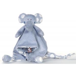 Dimpel - 821561 - Doudou éléphant Bolli - bleu (173237)