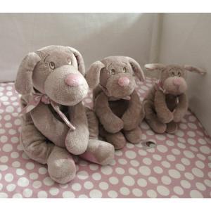 Dimpel - 820001 - Fifi doudou chien 20 cm - beige et rose (173247)