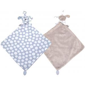 Dimpel - 820573 - Fifi chien doudou attache-tétine - bleu et beige-gris (173273)