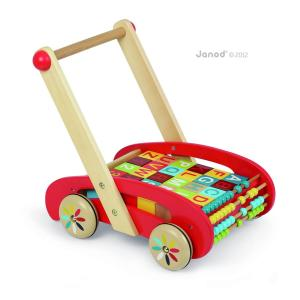Janod - J05379 - Chariot abc buggy tatoo - 30 cubes (181621)