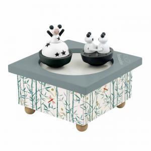 Trousselier - S95012 - Boite à Musique Bois Fille & Panda (183563)