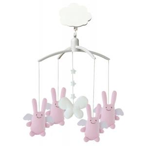 Trousselier - VM116303 - Mobile Musical Ange Lapin Rose (184331)