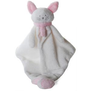 Dimpel - 822029 - Cléo doudou chat - blanc et rose (199743)