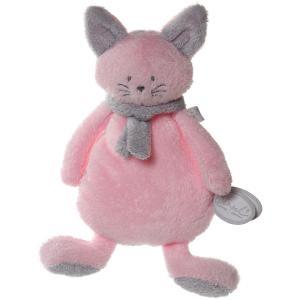 Dimpel - 822055 - Peluche chat crepe Cleo rose & gris clair (199747)