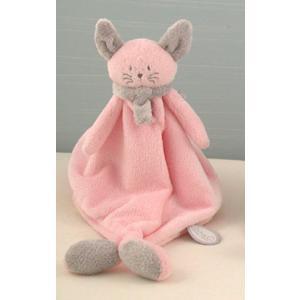 Dimpel - 822068 - Cléo doudou chat - rose et gris-clair (199749)