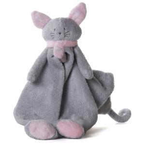 Dimpel - 822107 - Cléo doudou chat - gris-clair et rose (199755)