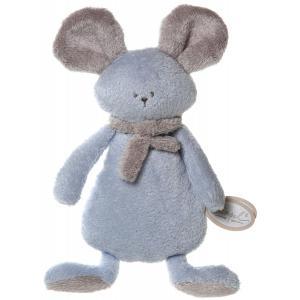 Dimpel - 822523 - Peluche souris crepe Mona bleu & beige gris (199855)