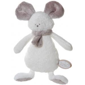 Dimpel - 822601 - Mona doudou plat - blanc et beige-gris (199867)