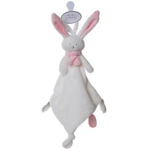 Dimpel - 822627 - Nina doudou lapin attache-tétine - blanc et rose (199875)