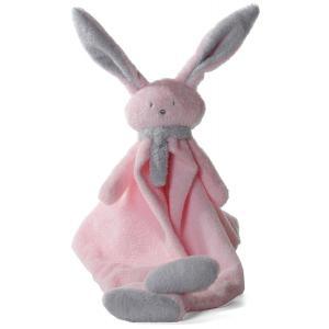 Dimpel - 822692 - Doudou lapin Nina rose & gris clair (199885)