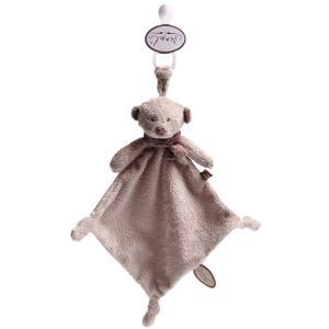 Dimpel - 882674 - Doudou ours attache-tétine Noann beige gris (199933)