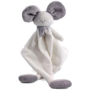 Dimpel - 822458 - Doudou souris Mona blanc & gris clair (225170)
