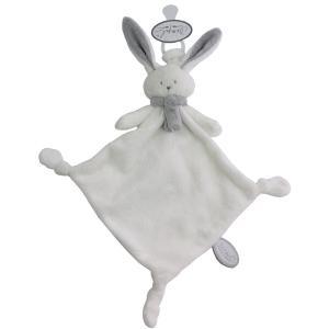 Dimpel - 822744 - Nina doudou lapin attache-tétine - blanc et gris-clair (225184)