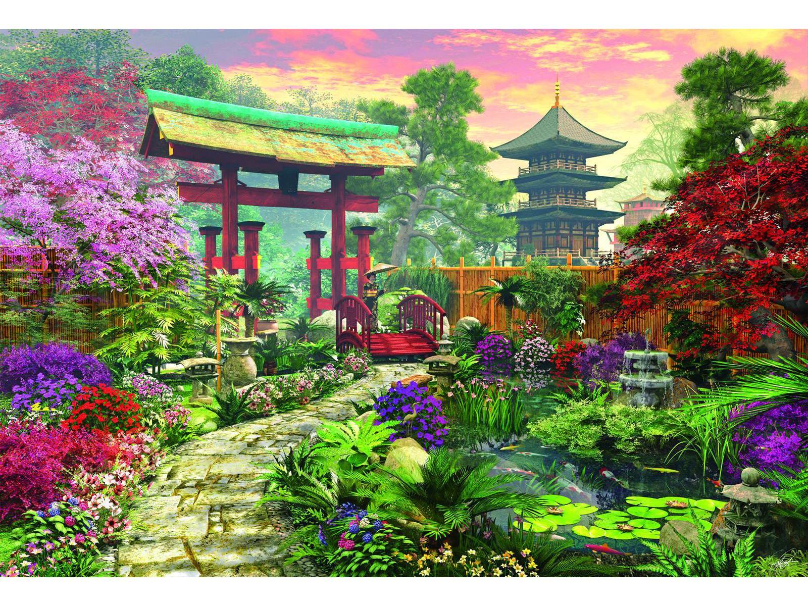 Educa - Puzzle 3000 jardin japonais