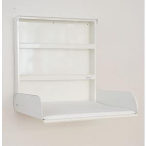 byBo Design - 90284 - Table à langer murale Fifi, matelas bio inclus blanc (257010)