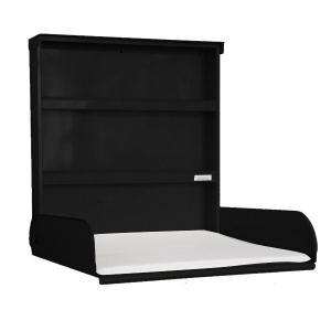 byBo Design - 90604 - Table à langer murale Fifi, matelas bio inclus noir (257012)