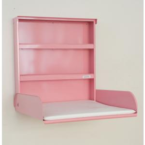 byBo Design - 90659 - Table à langer murale Fifi, matelas bio inclus rose (257014)