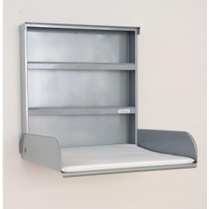 byBo Design - 90635 - Table à langer murale Fifi, matelas bio inclus silver (257018)
