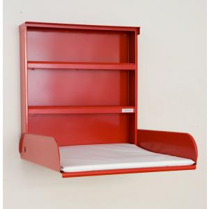byBo Design - 90611 - Table à langer murale Fifi, matelas bio inclus rouge (257020)