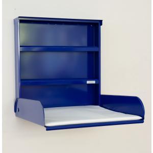 byBo Design - 90642 - Table à langer murale Fifi, matelas bio inclus bleu électrique (257022)