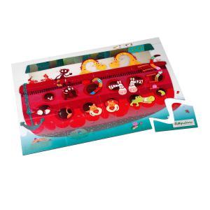 Lilliputiens - 86435 - Puzzle d'encastrement Arche de Noé duo puzzle (259250)