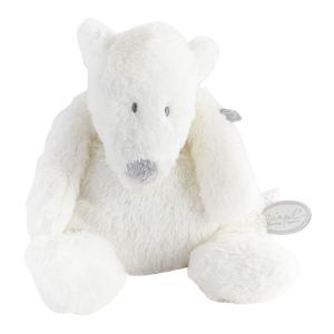 Dimpel - 883168 - Doudou ours polaire bébé P'timo Flatou blanc (264712)