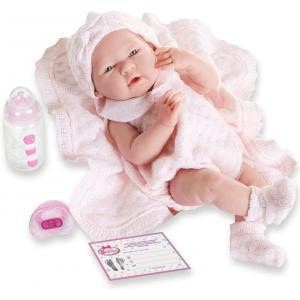 Berenguer - 18053 - Poupon Newborn nouveau né sexué fille avec couverture 38 cm (274296)
