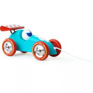 Vilac - 2309B - Voiture de course à trainer turquoise-rouge - à partir de 18m - Origine France (280872)