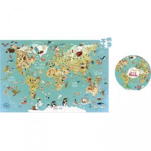 Vilac - 2722 - Puzzle carte du monde fantastique - à partir de 8-12 (280910)