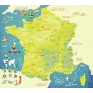 Vilac - 2725 - Carte des merveilles de France magnétique - à partir de 5+ (280916)