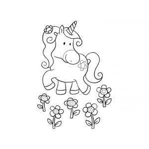 Haba - 300324 - Cartes postales à colorier Licornes dans les nuages (284774)