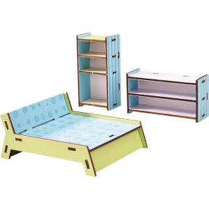 Haba - 300506 - Little Friends – Meubles pour maison de poupée Chambre à coucher (285002)