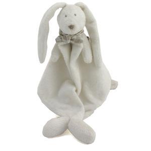 Dimpel - 883545 - Doudou lapin FLORE blanc (287700)