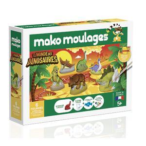 Mako moulages - 39018 - Création poterie«Le monde des dinosaures» Coffret 6 moules (294434)