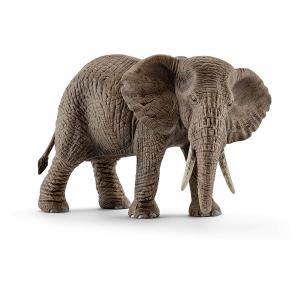 Schleich - 14761 - Figurine Éléphant d'Afrique femelle 14,6 cm x 7,5 cm x 9,1 cm (303404)