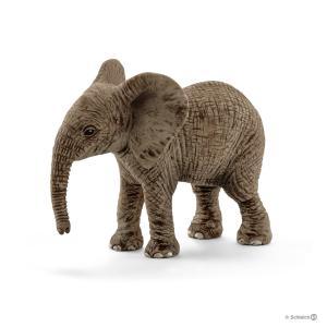 Schleich - 14763 - Figurine Éléphanteau d'Afrique - Dimension : 6,8 cm x 3,5 cm x 5,5 cm (303408)