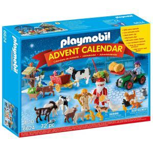 Playmobil - 6624 - Calendrier de l'Avent ''Père Noël à la ferme'' (304366)