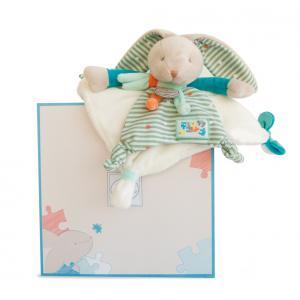 Doudou et compagnie - DC2986 - Lapin happy - doudou - 24 cm - boîte cadeau (305686)