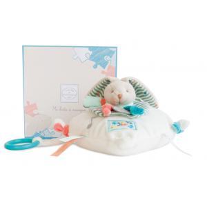 Doudou et compagnie - DC2988 - Lapin happy - boîte à musique - 18x18 cm - boîte cadeau (305688)